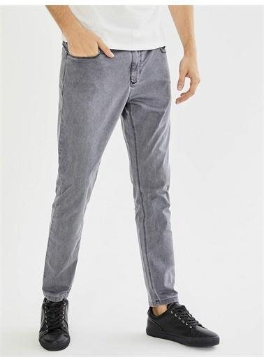 Xint XINT Pamuklu Parça Boyalı Slim Fit Pantolon Siyah